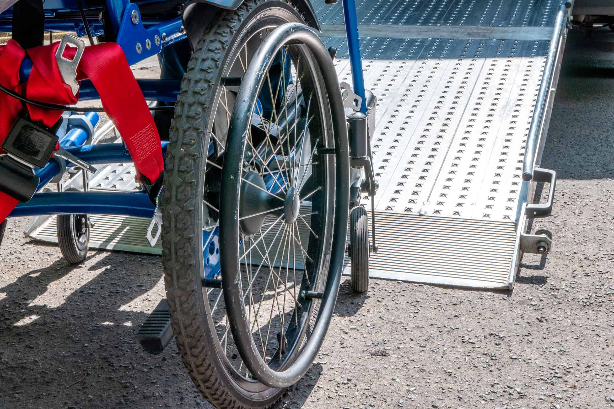 portable wheelchair ramp for elderly