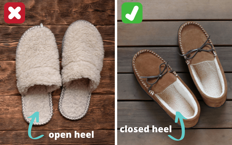 open vs closed heel