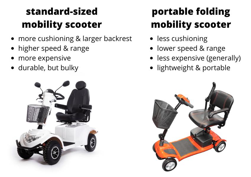 folding scooter vs standard scooter