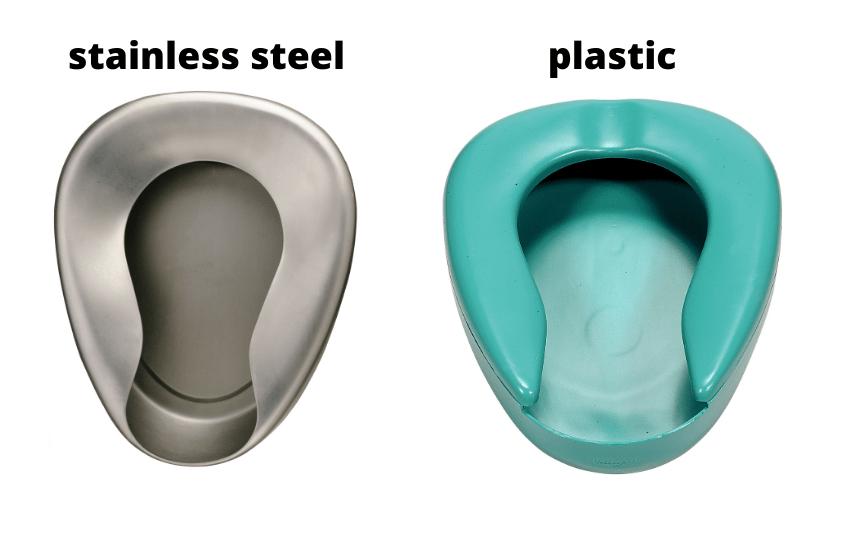 stainless steel vs plastic bedpan
