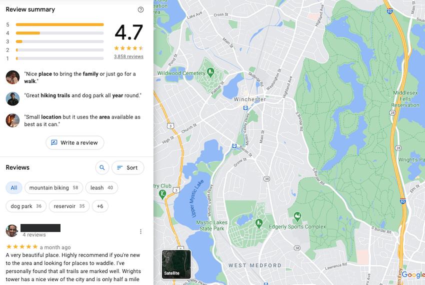 google location reviews