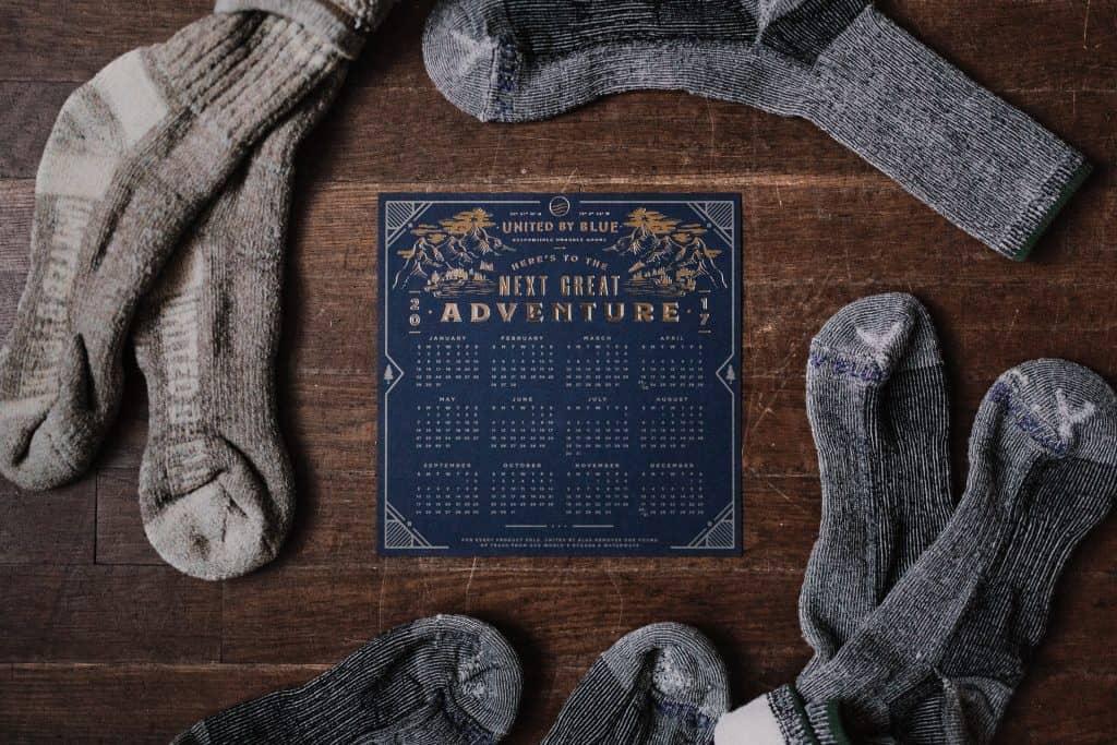 socks on table