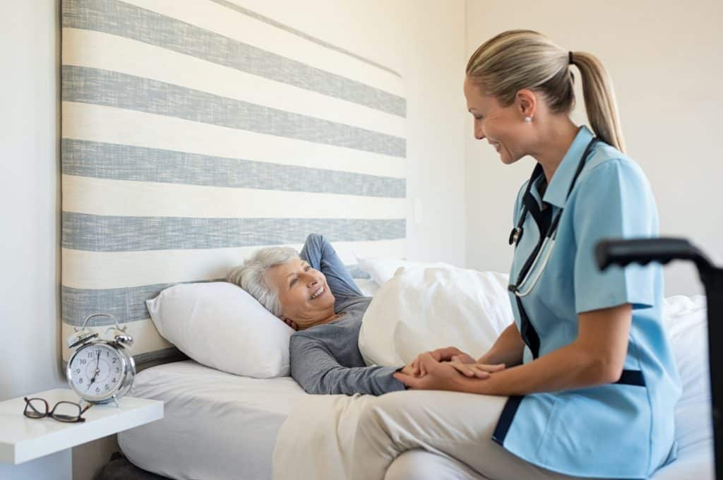 help elderly person get out of bed