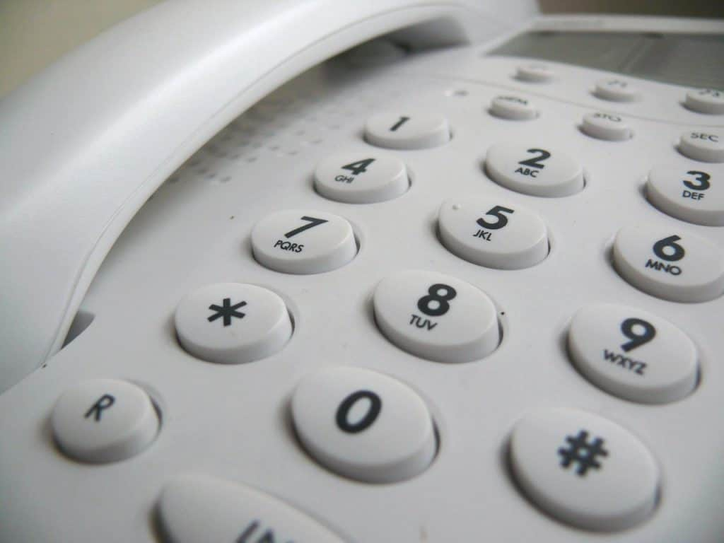 home phone with buttons