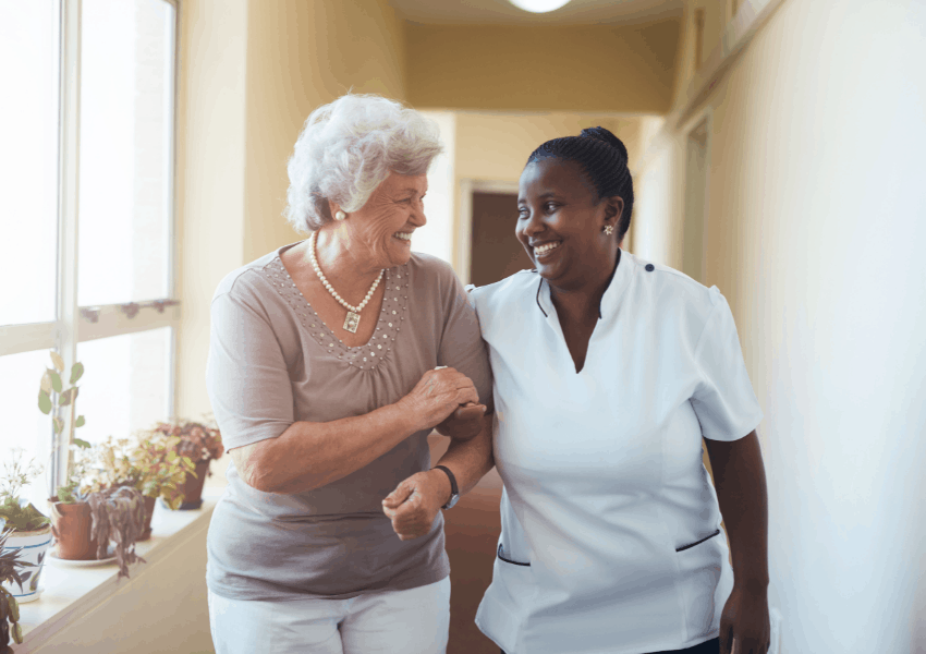 support elderly with positive reinforcement