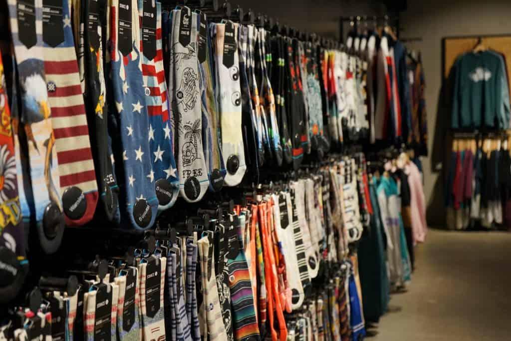 socks on store