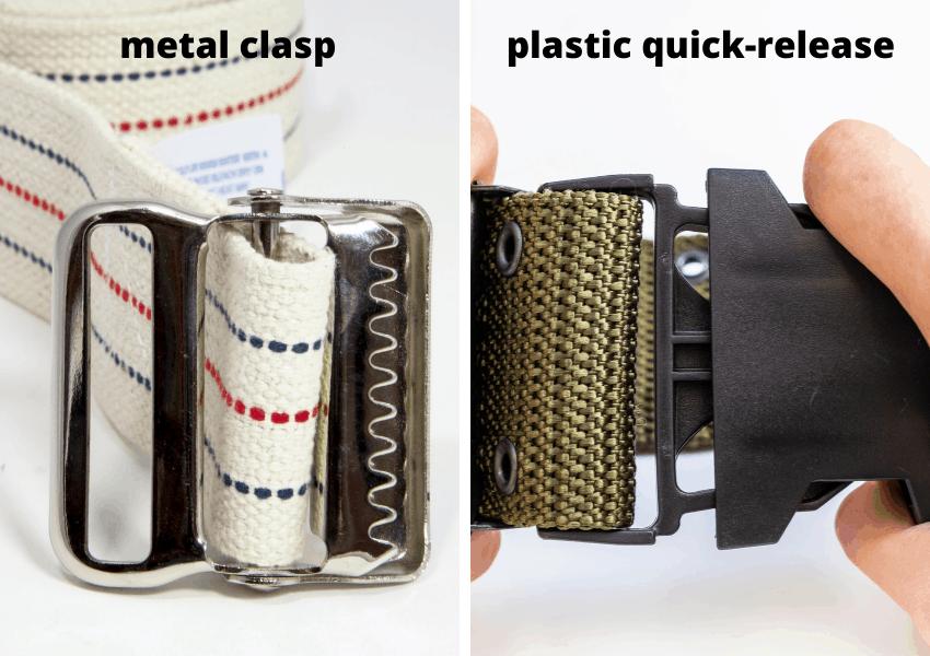 gait belt buckle types