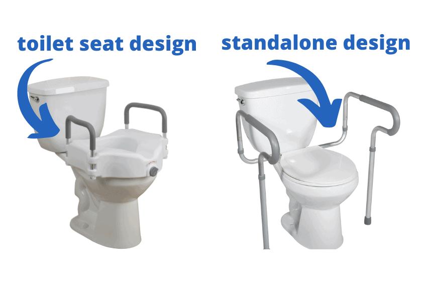toilet frame types